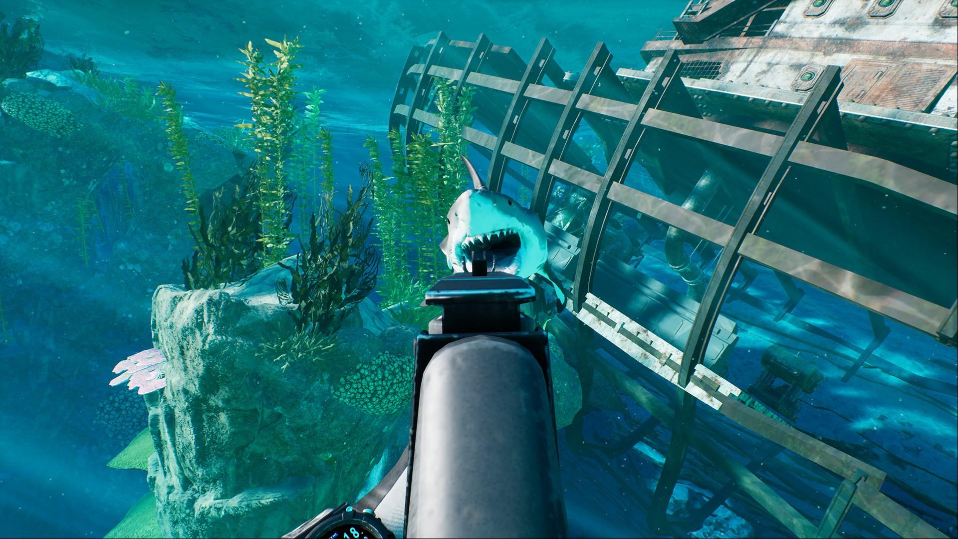 在这款游戏里,《深海惊魂》的老玩家实际上有一些优势,游戏里的武器